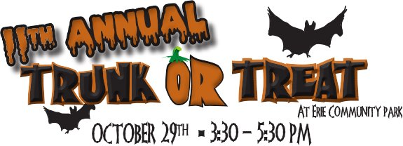 Trunk or Treat on October 29th at Erie Community Park
