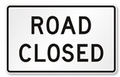 Image: Road Closed Sign