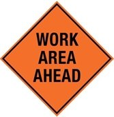 Image: Work Area Ahead Sign