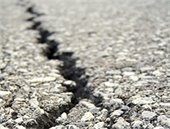 image of cracked street