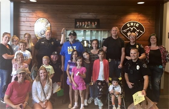 Picture: Visitors to the Erie Police Department