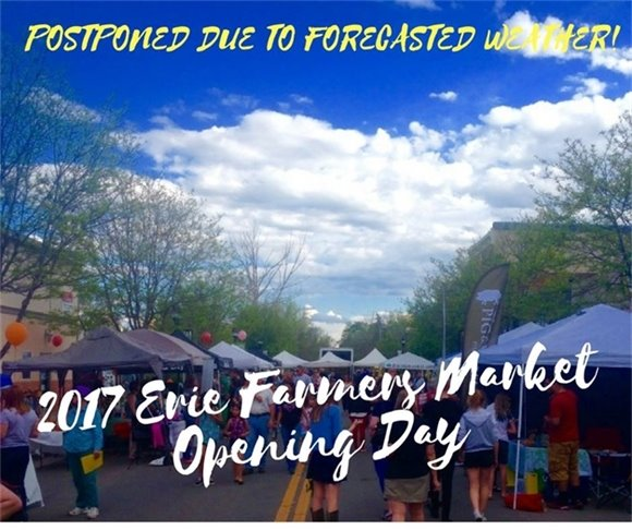 Farmers Market Opening Day Postponed to May 25