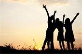 Image: Kids Outside at Sunset