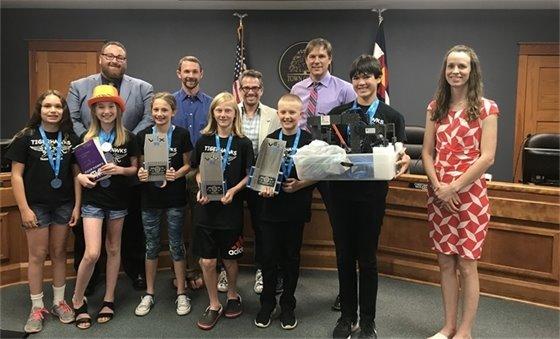 Recognition of the Erie Tiger Hawks Robotics Team