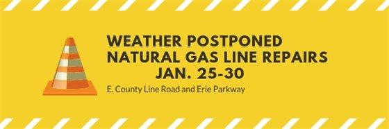 Weather postponed gas line repairs