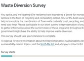 Waste Diversion Survey