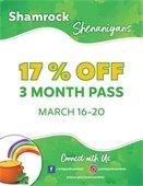 17 percent off a 3 month pass