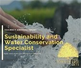 Now Hiring Sustainability and Water Conservation Specialist