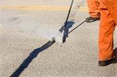 Springtime Street Crack Sealing