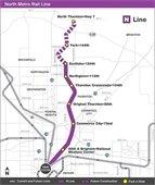 RTD North Line map