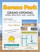 Serene Park Grand Opening