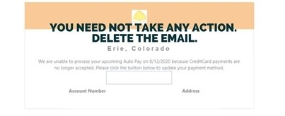 Do not take action - delete the email