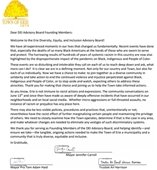 DEI Welcome Letter