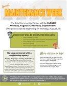 Maintenance Week Poster