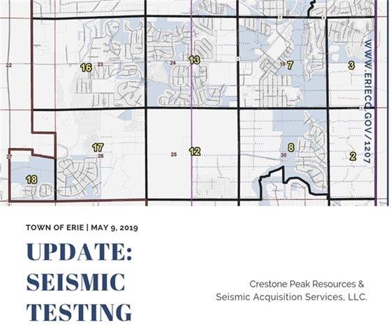 Seismic Testing May 9 Update