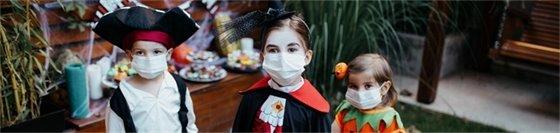 Halloween masked kids