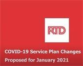 RTD Service plan changes