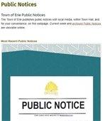 Public Notices postings