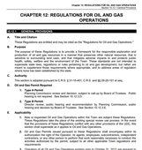 Chapter 12: Regulations for Oil and Gas Operations