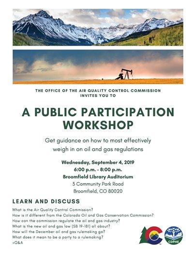 Air Quality Control Commission Public Participation Workshop