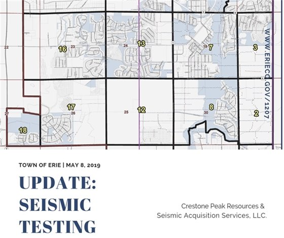 Seismic Testing May 8 Update