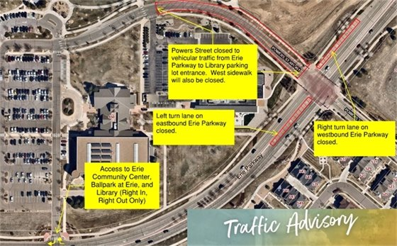 Traffic Advisory: Powers Street