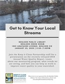 Keep It Clean Partnership Get to Know Your Local Streams event