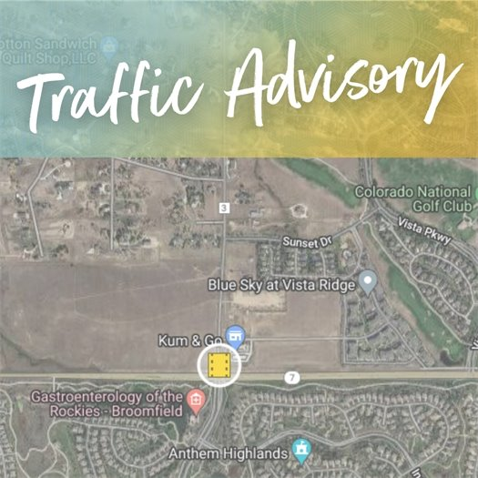 Traffic Advisory - Bonanza and Hwy 7
