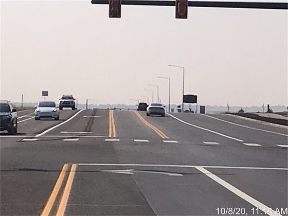 County Line Road and Vista Parkway new Striping and Signal street view