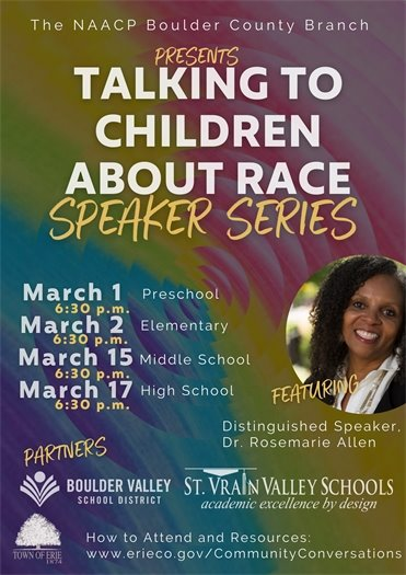 Speaker Series: Talking to Children About Race Flyer