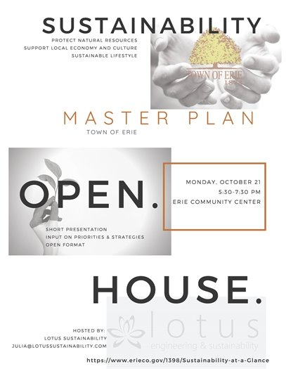 Open House for Sustainability Master Plan