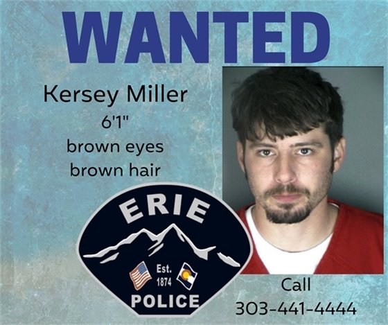 Wanted - Kersey Miller picture and call 303-441-4444