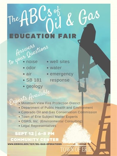 ABCs of Oil and Gas Education Fair flyer