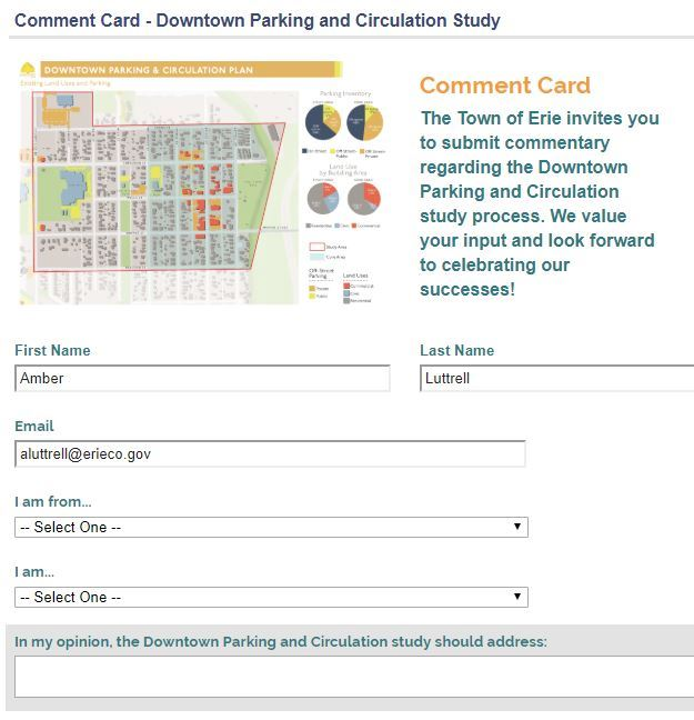 Comment card - Downtown Circulation