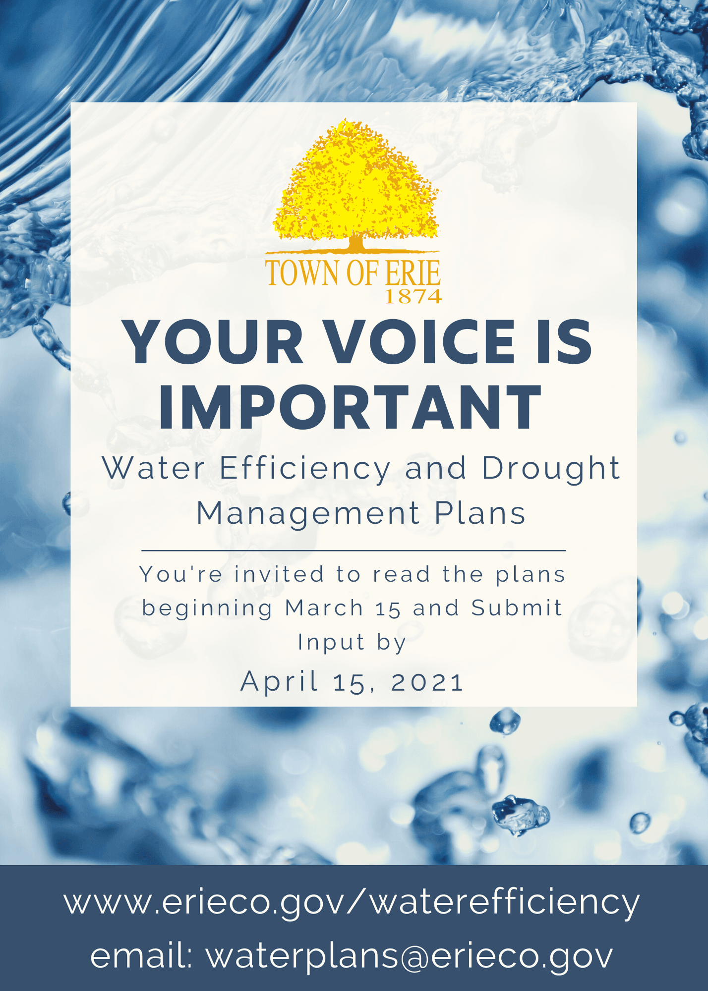 Water Efficiency and Drought Management Plans