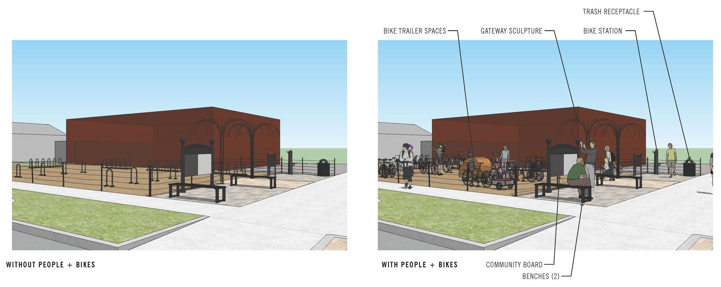 Bike Plaza Rendering