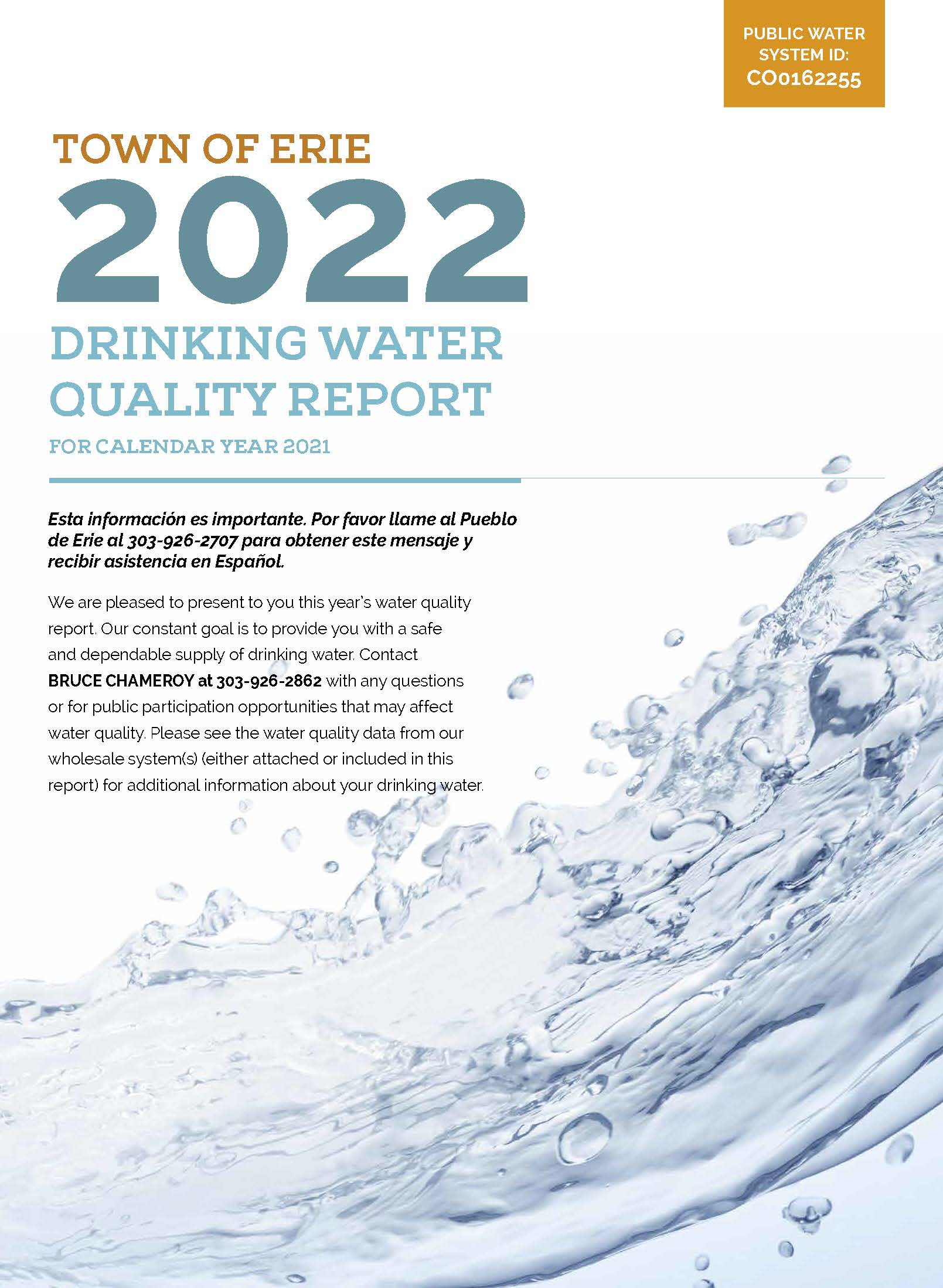 Image of Consumer Confidence Report Water Quality 2019 Opens in new window