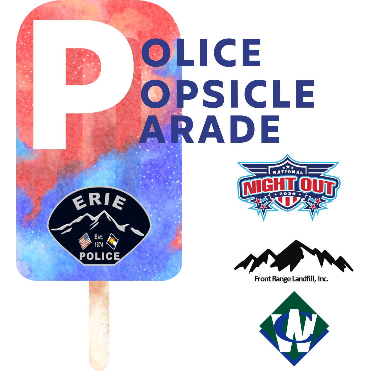 Police popsicle parade